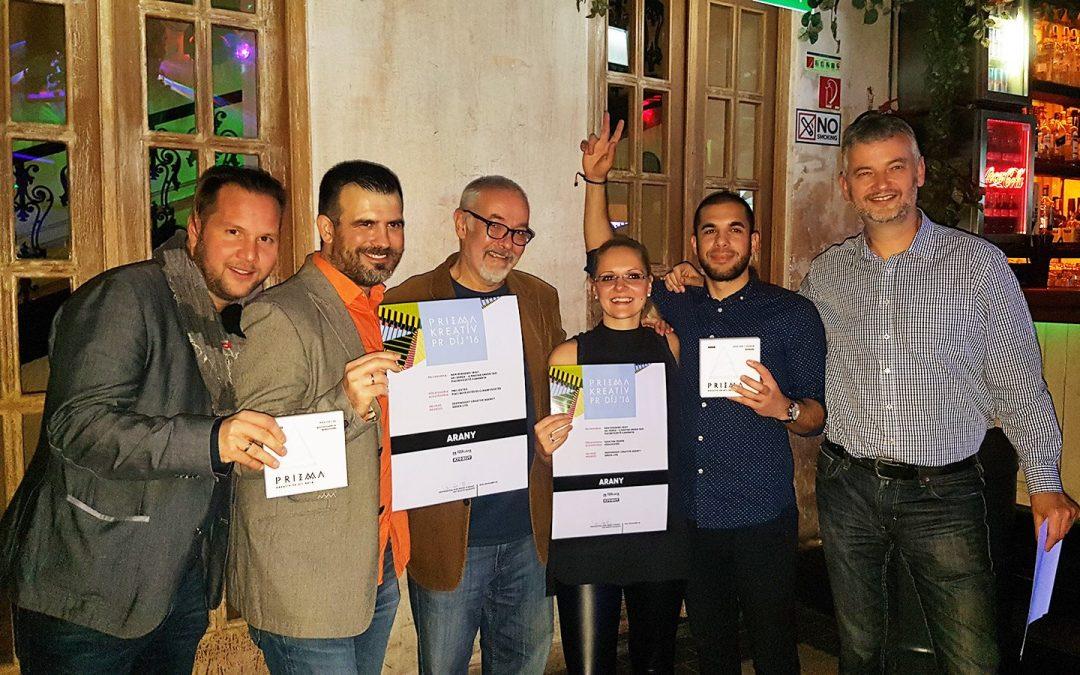 Két arany a Prizma Kreatív díjátadón!